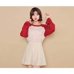 HOTPING - Reglan-Sleeve Cotton Top