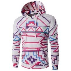 Bay Go Mall - Patterned Hoodie