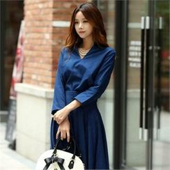 COCOAVENUE - 3/4-Sleeve Open-Placket Top