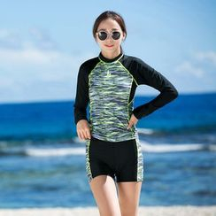 Thein - Set: Melange Rashguard + Swim Shorts