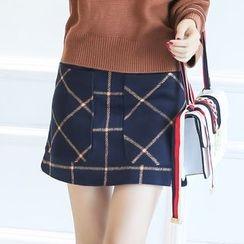 Romantica - Check A-Line Skirt