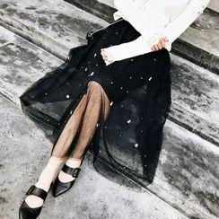 Jack Grace - 珠饰网纱长款裙