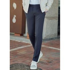 JOGUNSHOP - Flat-Front Colored Dress Pants