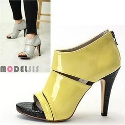 MODELSIS - Open-Toe Platform Pumps