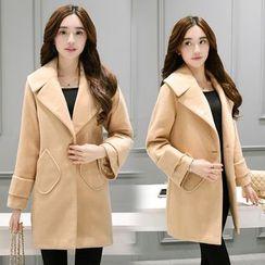 Sienne - Notch Lapel Woolen Coat