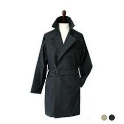 byCLASSIC - Double-Breasted Trench Coat with Sash