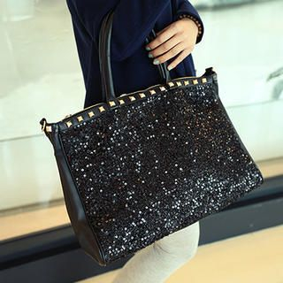 Miss Sweety - Studded Sequined Tote