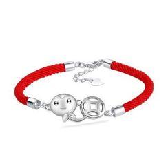 Zundiao - Sterling Silver Monkey Pattern Bracelet