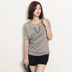 Stylementor - Short-Sleeve Sheered Top