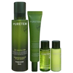 Kwailnara - Puretem Purevera Set: Skin 130ml + Soothing Gel 25ml + Skin 15ml + Emulsion 15ml