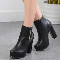 Anran - High Heel Ankle Boots