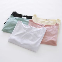 Bonbon - Plain Short-Sleeve T-shirt