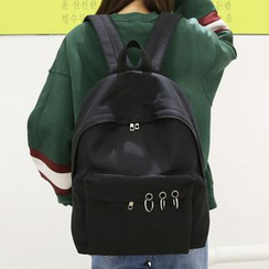 Youme - Metal Ring Detailed Backpack