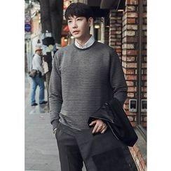 GERIO - Round-Neck Textured Pullover