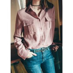 Chlo.D.Manon - Flap-Pocket Textured Shirt