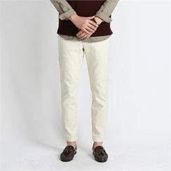 THE COVER - Band-Waist Straight-Cut Pants
