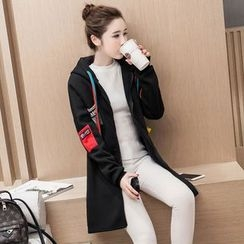 Ohayo - Maternity Color Block Long Zip Hoodie