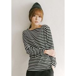 GOROKE - Round-Neck Stripe T-Shirt