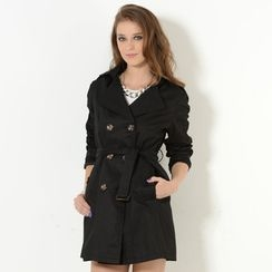 YesStyle Z - Double-Breasted Trench Coat