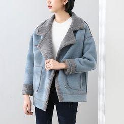 HORG - 抓毛机车外套