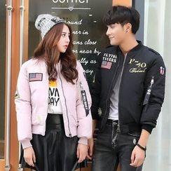 Azure - Couple Matching Embroidered Padded Jacket