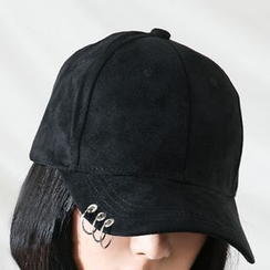 FROME - Ring-Detailed Suede Cap