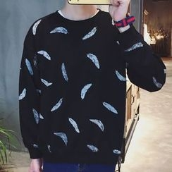 Streetstar - Feather Print Sweatshirt
