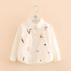 Seashells Kids - Kids Embroidered Shirt
