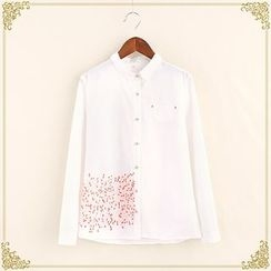 Fairyland - Embroidered Long-Sleeve Blouse
