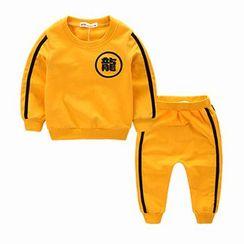 Kido - 儿童套装: 条纹套衫 + 运动裤