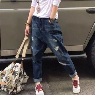 YORU - Distressed Harem Jeans