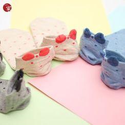 Socka - Ear-Accent Dotted Socks