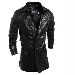 Hansel - Lapel Faux Leather Jacket