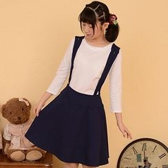 Moriville - Set: 3/4-Sleeve T-Shirt + Jumper Skirt