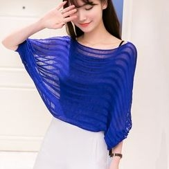 Cotton Candy - 3/4-Sleeve Batwing Knit Top