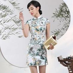 Miss Four Qipao - Floral Print Cheongsam