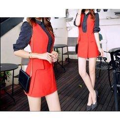 Mussa - Set: Long-Sleeve Shirt + Jumper Skirt