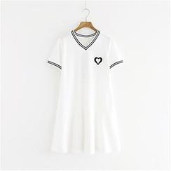 Storyland - Short-Sleeve Embroidered Dress