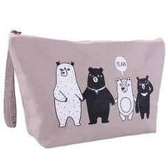 Koeman - 熊印花化妆袋