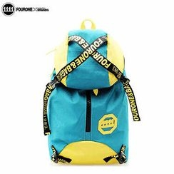 Fourone - Contrast-Color Travel Nylon Backpack