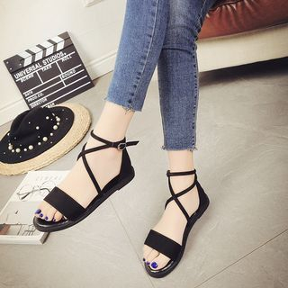 MAILEMAO - Lace up Sandals