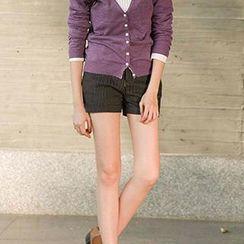 CatWorld - Patterned Cuffed Shorts