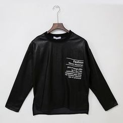 Mr. Cai - Faux-Leather Panel Zip Top