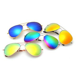Koon - Metallic Mirrored Aviator Sunglasses