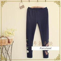 Fairyland - Cat Print Fleece-Lined Leggings