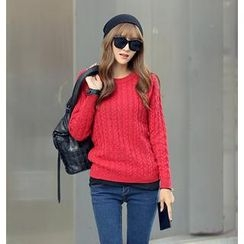 REDOPIN - Cable-Knit Sweater