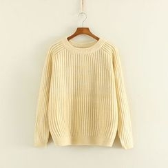 Mushi - Ribbed Knit Top