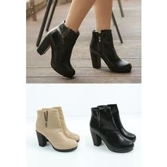 REDOPIN - Zip-Up Ankle Boots