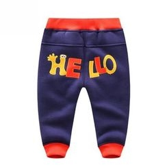 Endymion - Kids Letter Applique Jogger Pants