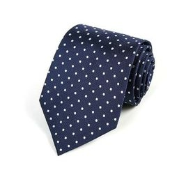 Xin Club - Dotted Silk Neck Tie (8cm)